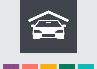 Garage icon. Vector illustration EPS.